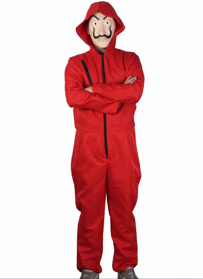 Salvador Dali Movie Costume Money Heist The House of cards La Casa De Papel Cosplay Halloween Party Costumes for kids