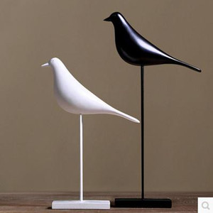 Статуэтка для птицы из смолы, Офисная статуя, скульптура с украшениями, аксессуары для домашнего декора, скульптура для птиц