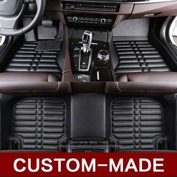 Custom fit car floor mats for Ford Edge U387 Fusion Mondeo Focus Explorer Ecosport waterproof heavy duty carpet rugs liners