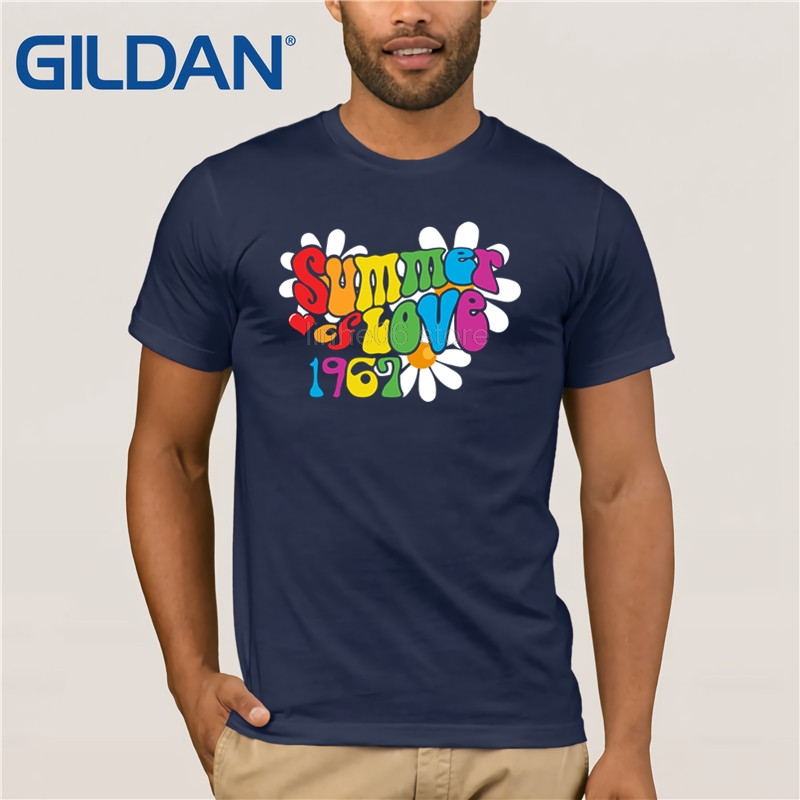 2b49af05b553 GILDAN 1967 Summer of Love T Shirt Hippie 50th Anniversary Shirt-in T-Shirts  from Men s Clothing on Aliexpress.com
