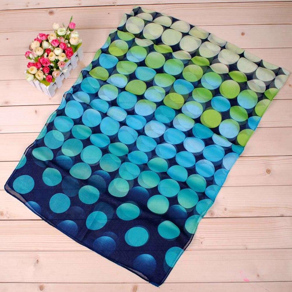 Fashion Polka Dot Print Women Lady Chiffon Silk Soft Long Neck Large   Scarf   Comfortable Shawl   Wrap   Pashmina Hot