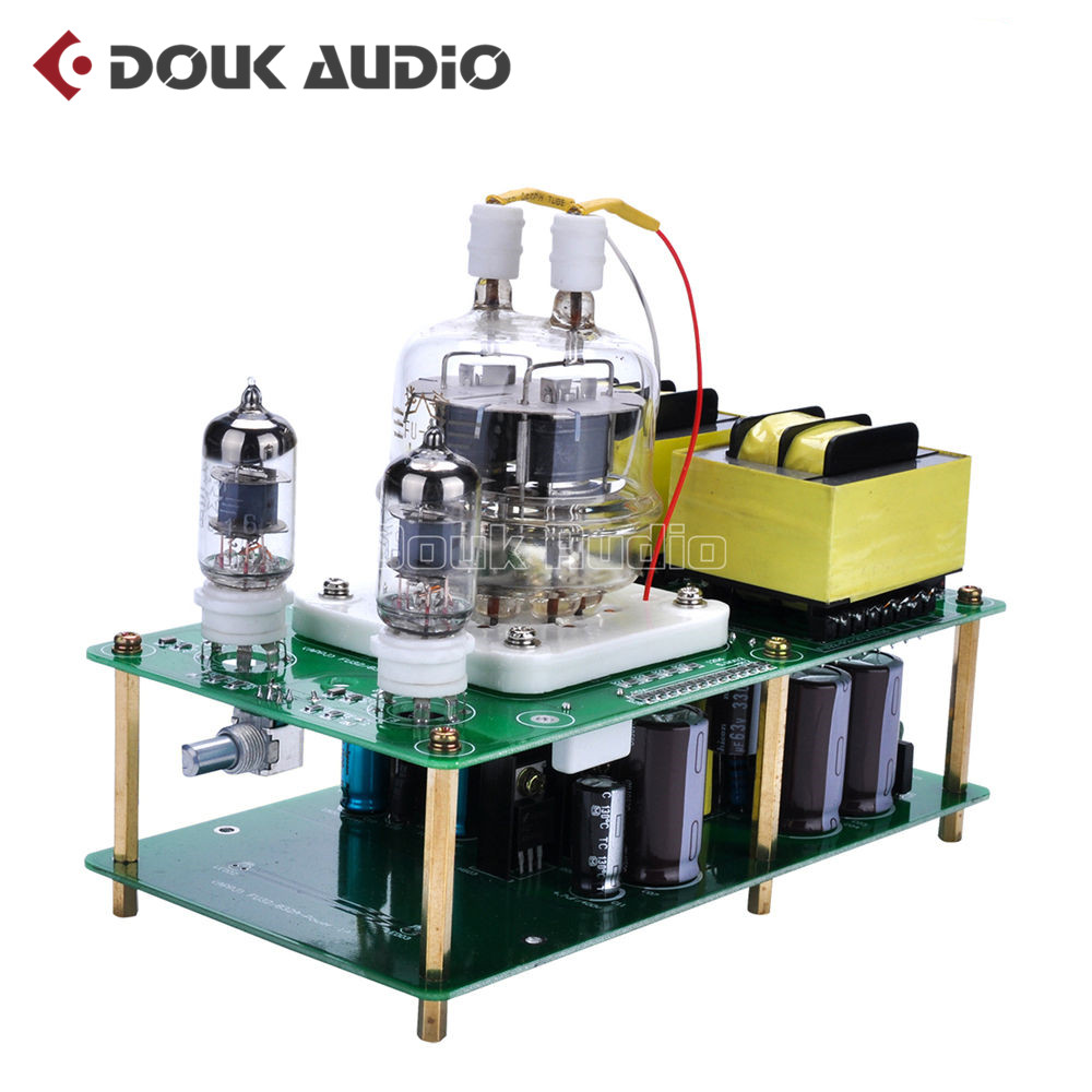 Douk Audio Latest APPJ Assembled FU32 Single-Ended Class A Tube Amplifier Audio Power Amp Board HiFi DIYer Free shipping l passam gold field effect transistor audio power amp single ended class a 2 25w hifi amplifier