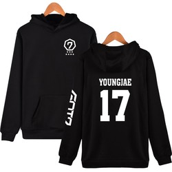 Fashion Hoodies Women Pullover Korean Got7 K-pop Fans Supportive Sweatshirt Women Moletom Got7 Sudaderas Mujer Never Ever 6