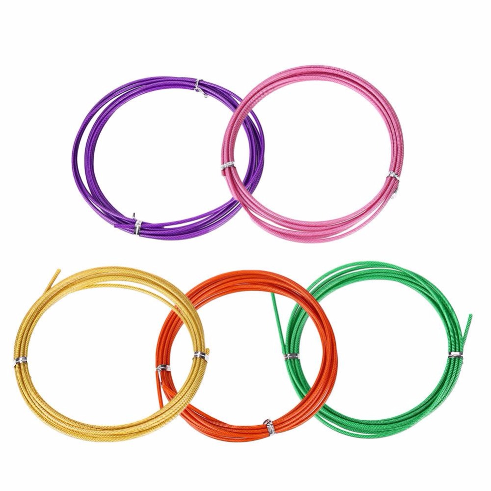 Relefree Hot Stainless Steel Spare Rope 3 m Replaceable Wire Cable Speed Jump Skipping Ropes for Sports Exercise