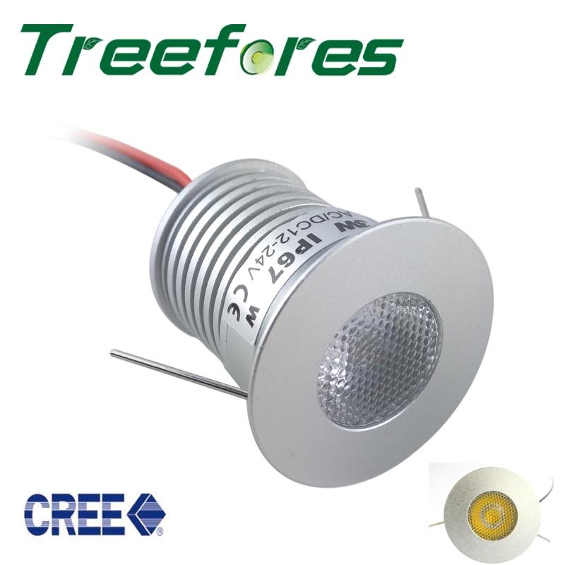 3W 12V 24V 3V/700mA 25mm 30mm LED Ceiling Light CE RoHS Lamp Spot CREE COB Spotlight 25/60 Degree Cabinet Wall Stair Lamp