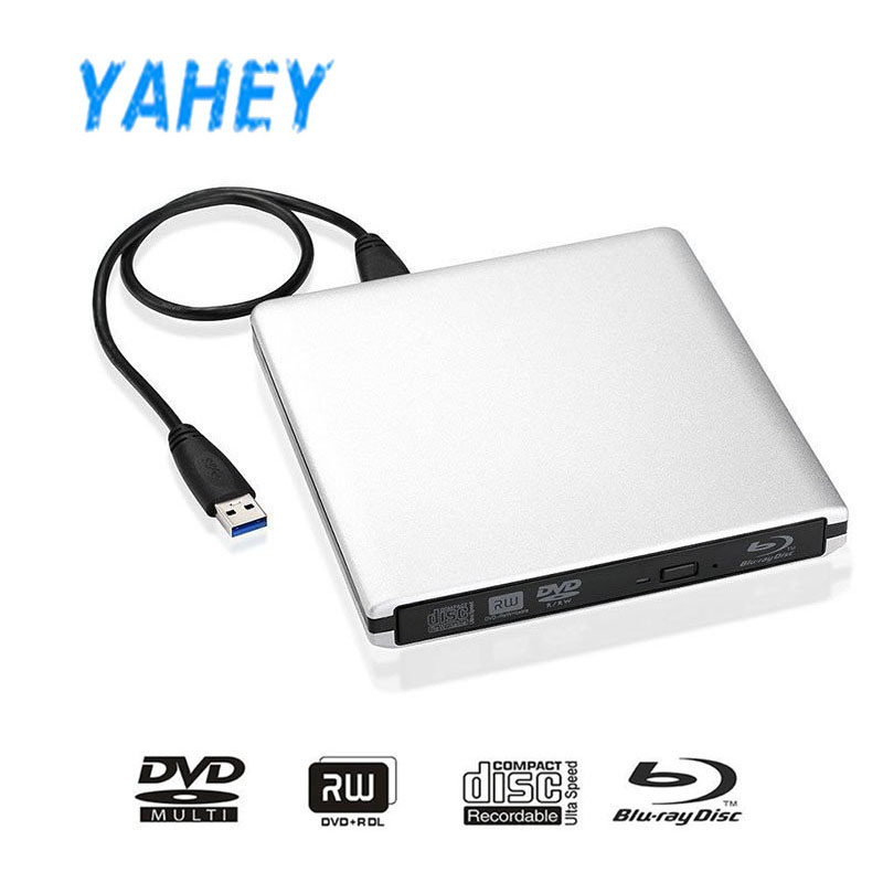 [Ship from Local Warehouse] USB3.0 External Bluray Player CD/DVD-RW Burner Writer BD-ROM Blu-ray Drive for Apple Macbook Laptop bluray drive bd rom external bd rw dvd rw burner slot load cd dvd bd rom play 3d movie writer for apple laptop computer