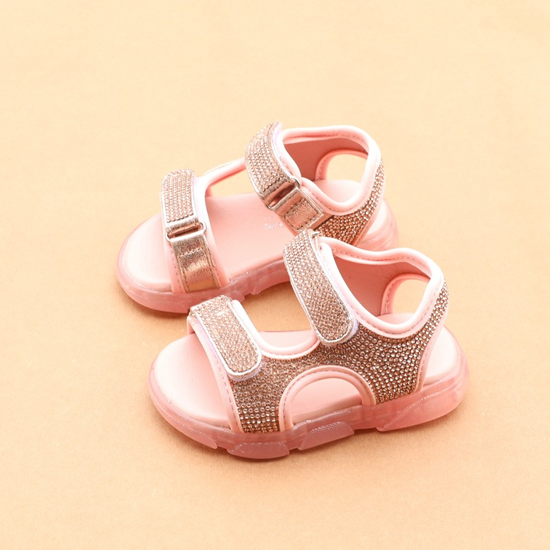 Baby Sandals Rhinestones  Baby Girls Sandals 1-2 Years Old Children's Beach Sandals Princess Sandals Toddler Shoes