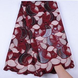 Image 2 - Nowy Top mleko jedwabne koronki kolorowe kamienie francuski koronki tkaniny afryki koronki tkaniny wysokiej jakości nigeryjski koronki tkaniny na WeddingA1639