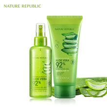 Nature Republic Korean Skin Care Moisturizing Set Hose Aloe Vera Gel+Facial Aloe Mist Oil Control Acne Remove Face Cream