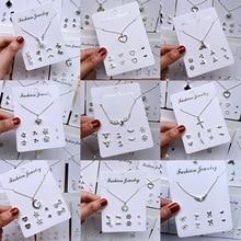 2019 new fashion temperament simple necklace female pendant cute  week set bohemian jewelry