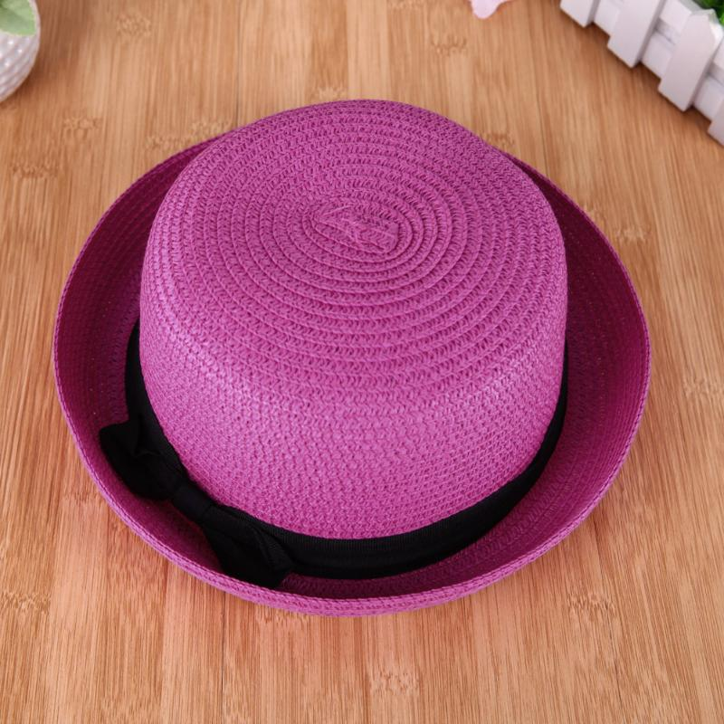 6212ab458 Travel Outdoor Straw Ribbon Sun Hat Women Female Fold Spring Summer Beach  Hat Girls Casual Round Flat Top Cap Wholesale Price
