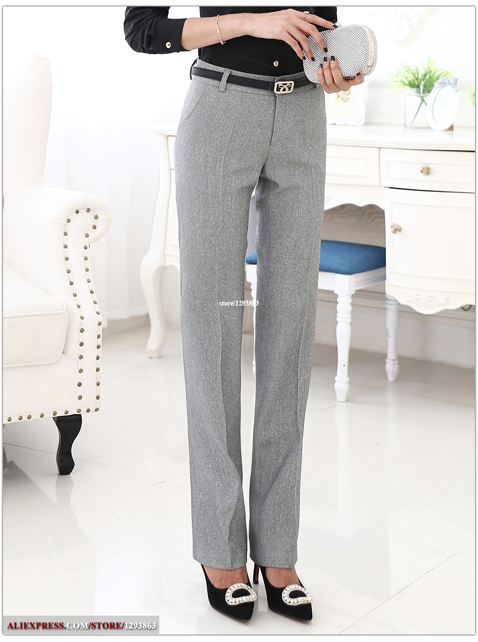 High Quality straight trousers
