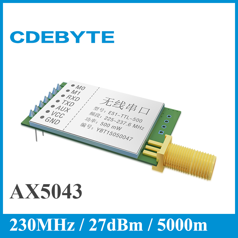 imágenes para CDEBYTE E51-TTL-500 AX5043 UART Módulo de rf de Largo Alcance 5000 m 230 MHz Transceptor Inalámbrico Módulo Receptor