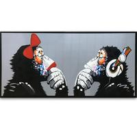 Handmade Oil Painting Monkey Animal Picture For Kids Room Decoration Art