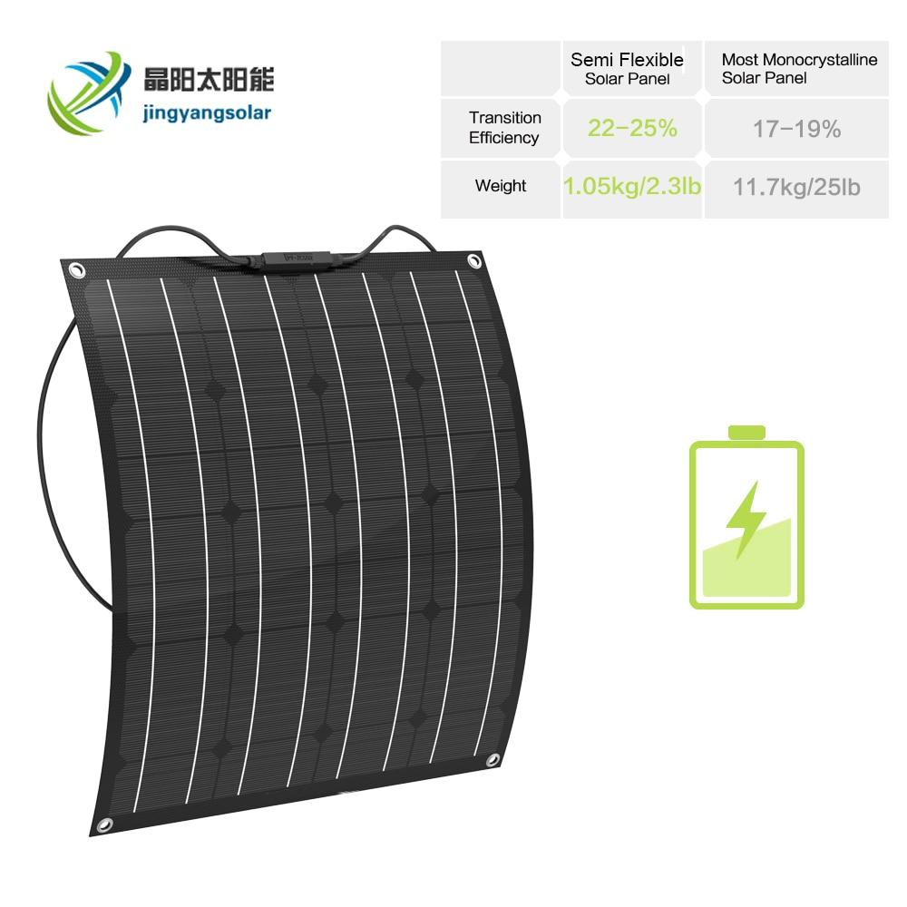 1pcs 50W ETFE Flexible solar panel 12V mono crystalline solar cell china cheap solar panel cell