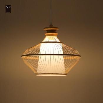 Lampe De Table En Bambou   Bambou En Osier Rotin Pyramide Pendentif Luminaire Vintage Primitif Suspendu Plafonnier Avize Pour Table à Manger Salle E27 Ampoule
