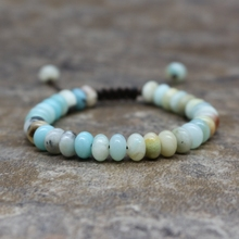 Abacus Beads 4* 6mm Amazon Stone Beaded Bracelet Ladies Girls Lucky Friendship Bracelet Jewelry