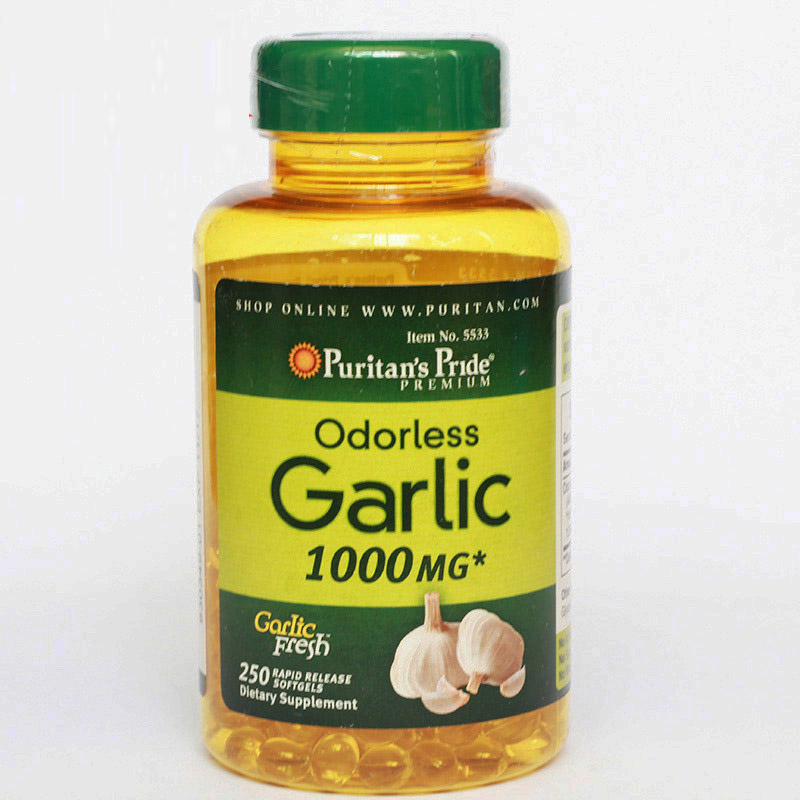 Odorless Garlic 1000 mg 250 pcs Free shipping oystercal d 500 mg compare and save 250 caplets free shipping