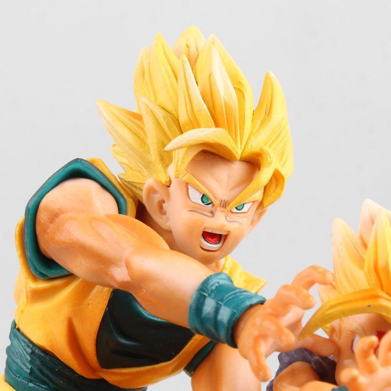 HKXZM Anime 17 CM Dragon Ball Z Super Saiyan fils Goku & Gohan père et fils Kamehameha PVC Figure de collection modèle jouet cadeau - 6