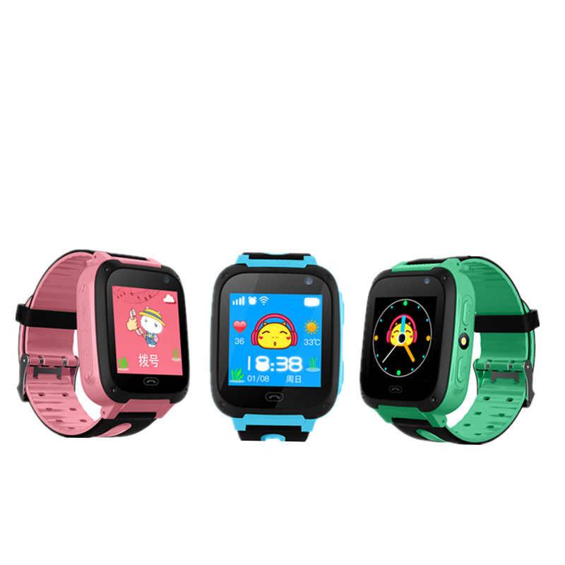 Умные часы LIGE с защитой от потери, необходимые для детей, Часы светодиодный цветной экран, будильник, позиционирование, умные детские часы, сделать вызов