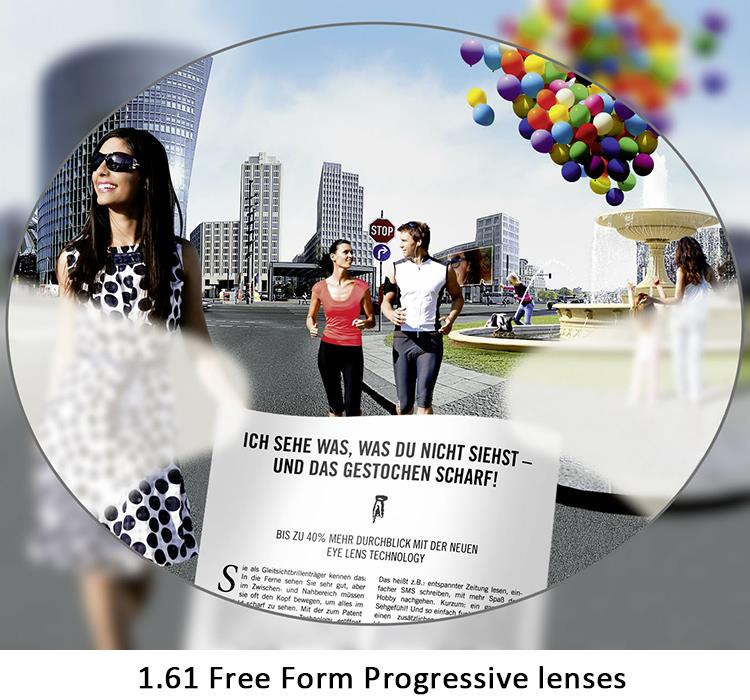 1 61 Index Radiation Protection Multifcoal Free Form Progressive Glasses Lenses Prescription