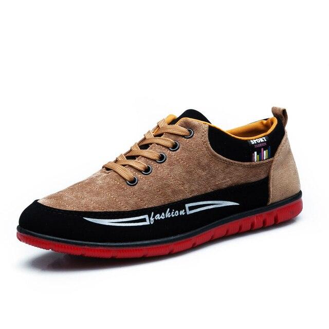 ffa2146e9 2018 Homens Não-Couro Sapatos Casuais Tênis Da Moda Mocassins de Lona Homem  Lazer Sapatos