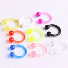 9pcs/lot new fashion arrival clip on nose rings studs colorf