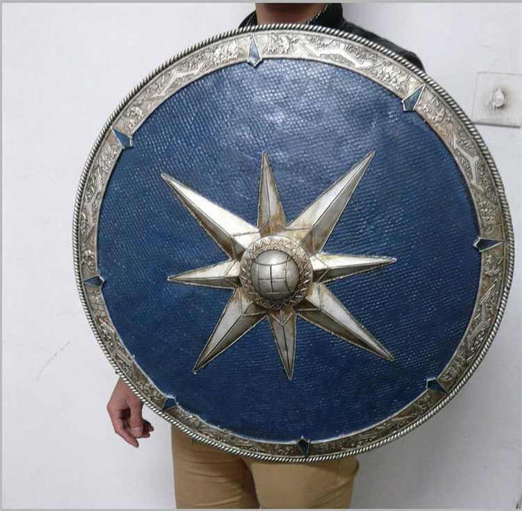 [Best] Metal and Resin made 1:1 Scale 62cm The Legendary Shield Of Narnia weapons model adult child cosplay toy collection gift