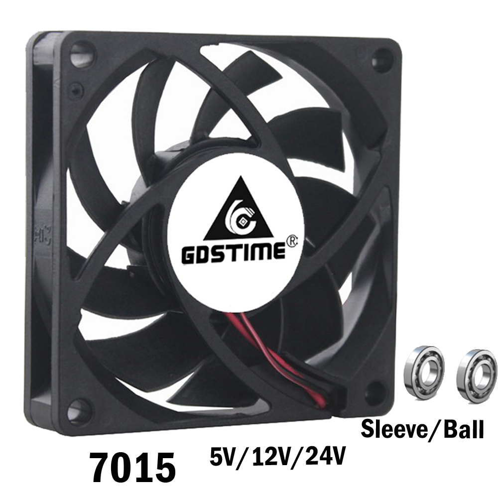 1PCS DC 24V 2Pin 2Wire 7cm 70mm 7015 70x70x15mm Industrial Cooling Fan computer cooling