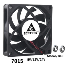 1PCS DC 24V 2Pin 2Wire 7cm 70mm 7015 70x70x15mm Industrial Cooling Fan