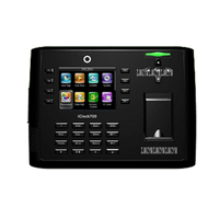 Iclock700 디지털 이미징 생체 인식 usb ip 시계 기계 시계 액세스 제어 시간 기록 3.5 인치 tft 스크린 블랙|biometric clock|biometric time clocktime clock -