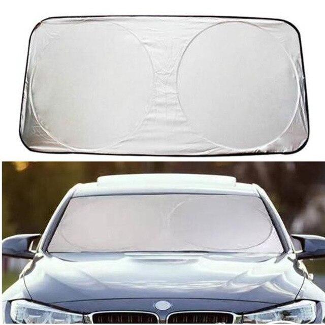 Car Styling Folding Jumbo Front Rear Car Window Sun Shade Auto Visor  Windshield Block Cover Car 21bd23a6fe7