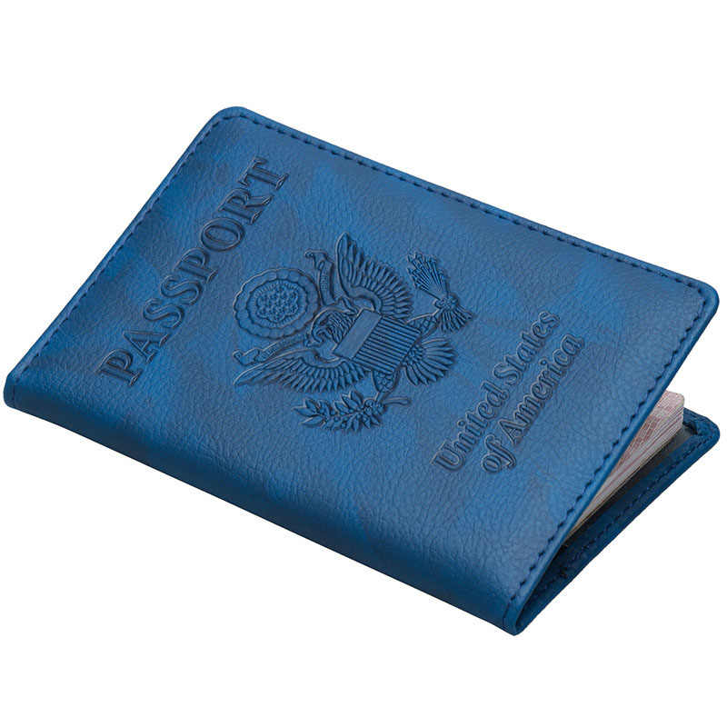 Funda de pasaporte de oso KUDIAN América soporte de pasaporte de Estados Unidos funda de viaje esigner marca diseñador titular de la tarjeta BIH080 PM49