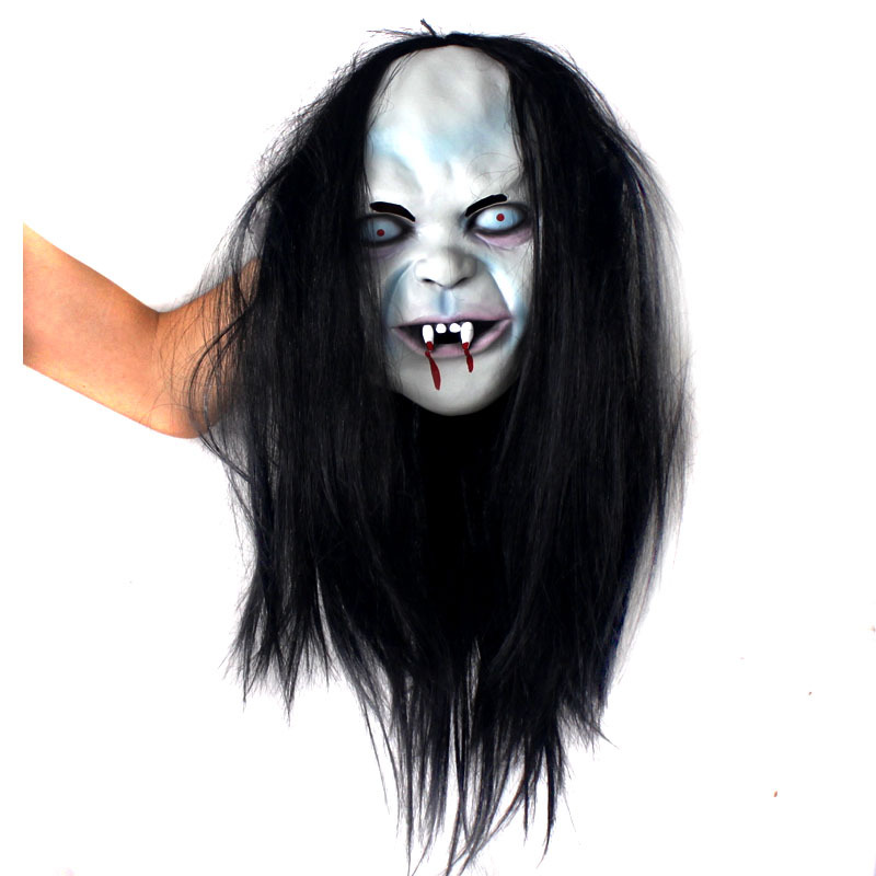 2016Horror!Halloween Mask Witch Mask Halloween Props <font><b>Grudge</b></font> Ghost Hedging Zombie Mask Realistic Silicone Masks Masquerade Ball .
