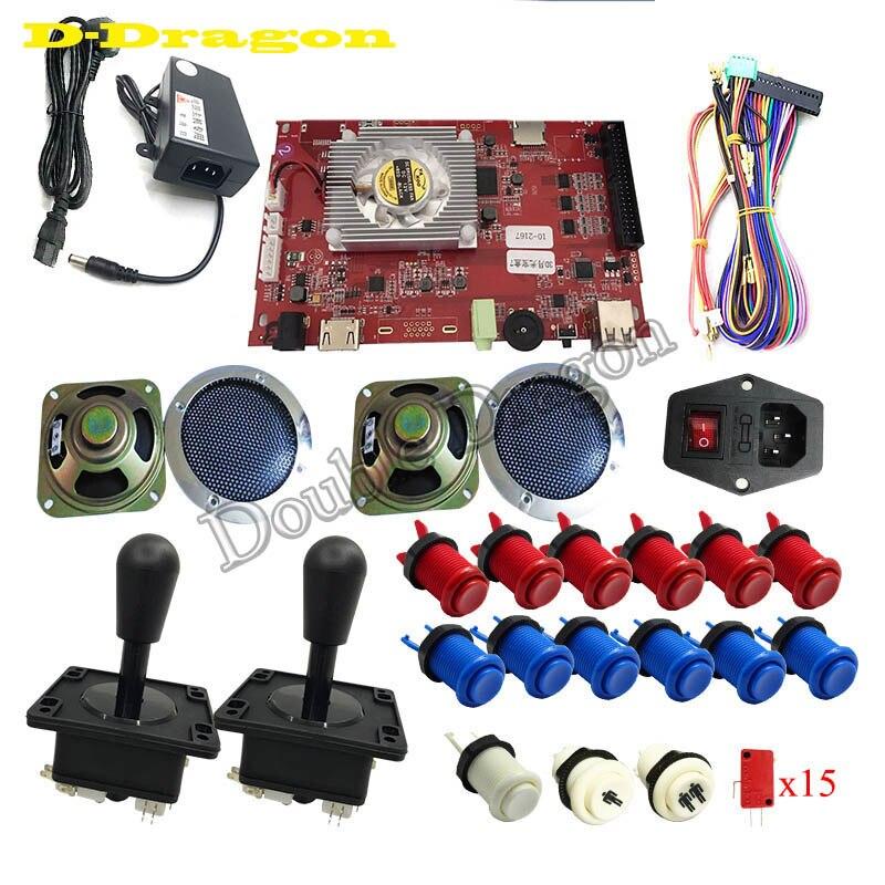 2177 en 1 faisceau d'arcade avec boutons led pour VGA/HDMI jeu de société jeu arcade paquet vidéo-arcade jamma planches accesorios kit arcade