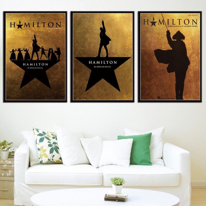 Custom Hamilton American Musical New Silk Poster Wall Decor