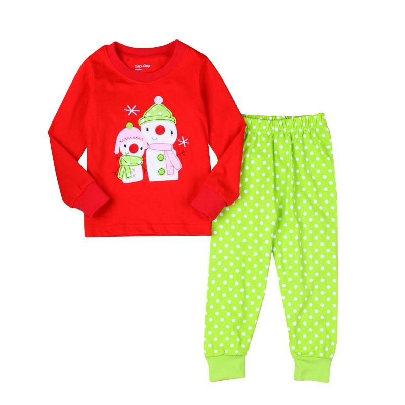 Christmas Girls Clothes Set Kids Pajamas Girls Suits Children