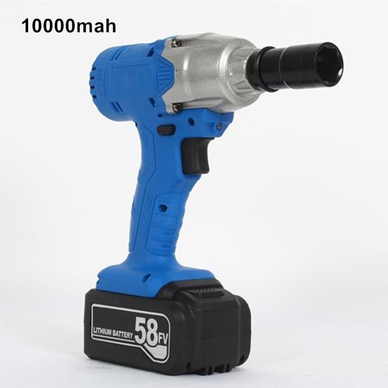 58V 10000mAhコードレス電動インパクトレンチリチウムバッテリードリル多機能充電式電動工具1PCバッテリーインパクトレンチ