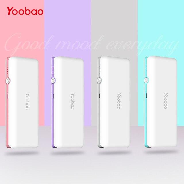 Yoobao милые Мощность bank 10000 мАч Ultra Slim Мощность банк лучший внешний Батарея повербанк для Iphone 7 6 5 4 SE для Xiaomi Mi