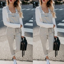 streetwear casual suspenders jumpsuits for women 2019 gray elegant backless one piece sleeveless overalls bandage long jumpsuit stylish sleeveless u neck backless gray sheathy jumpsuit for women