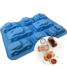 Креативная Автомобильная силиконовая форма для торта, инструменты для украшения торта, узорная выпечка, инструменты для мыла, конфет, шоколада для желе, льда, кексов