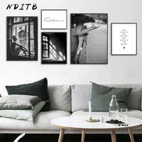 Abstract Girl Canvas Fashion Poster Black White Wall Art Print Painting Nordic Decoration Picture Scandinavian Home Decor