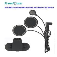 Freedconn T-COMVB TCOM-SC FDC-01VB Filo Morbido Casco Del Motociclo di Bluetooth Interphone Molle Microfono/Cuffia Auricolare + Clip di Montaggio