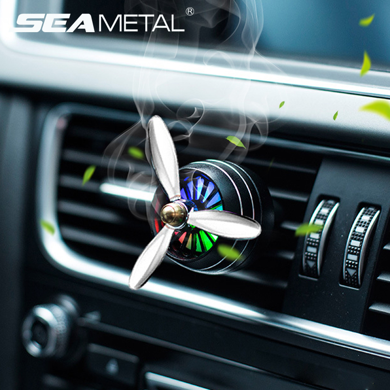Air Freshener Car Smell LED Mini Conditioning Vent Outlet Perfume Clip Fresh Aromatherapy Fragrance Alloy Auto Good Accessories hockey sock