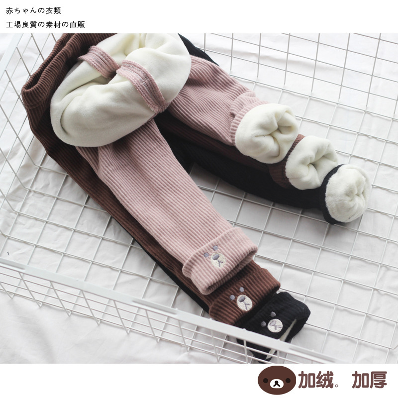 Travel snail leggings girl winter girls pants pantalon nino girls leggings girl leggings children warm skinny 2018 winter New