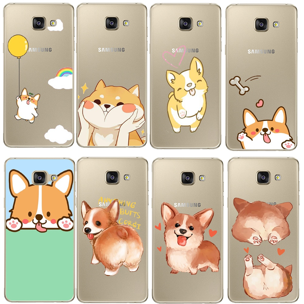 Soft TPU Super Cute Corgi <font><b>Case</b></font> For <font><b>Samsung</b></font> <font><b>Galaxy</b></font> <font><b>A3</b></font> A5 A7 J1 J3 J4 J5 J6 J7 J8 A6 A8 Plus 2018 2016 <font><b>2017</b></font> Sexy <font><b>Dog</b></font> <font><b>Phone</b></font> Cover image