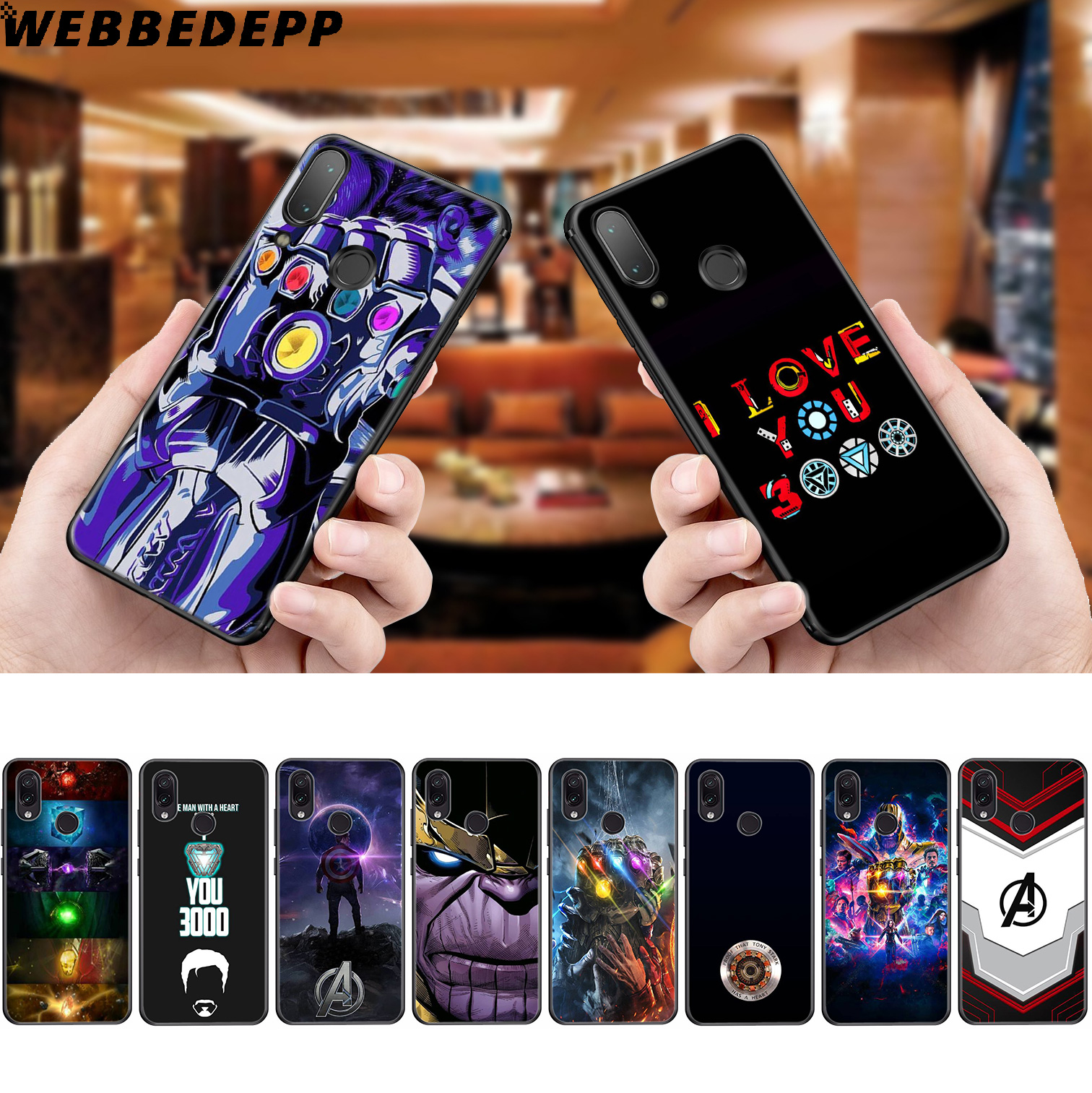 ENDGAME Avengers Marvel <font><b>3000</b></font> Soft Case for Xiaomi Redmi K20 7A 4A 4X 5 5A 6 6A S2 Note 8 4 4X 5 6 5A <font><b>7</b></font> Pro Plus Prime image