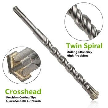 210mm 6/8/10/12/14/16mm Mini SDS Plus Crosshead Twist Spiral Hammer Drill Bit Set Power Tools Model Craft Repair Parts