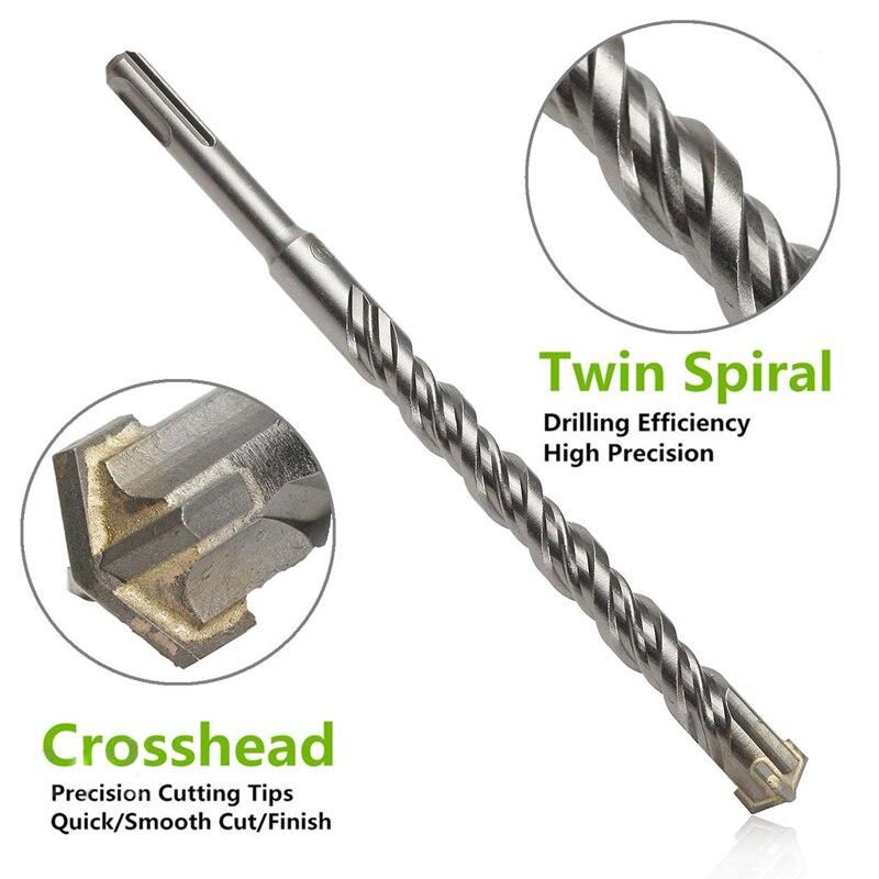 210mm 6/8/10/12/14/16mm Mini SDS Plus Crosshead Twist Spiral Hammer Drill Bit Set Power Tools Model Craft Repair Parts фонарь maglite mini 2aa черный 14 6 см в блистере с чехлом 947172