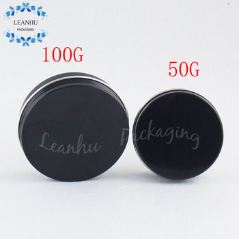 Black Aluminium Cans With Screw Cap,50G Solid Liquid Eyeliner,Lipstick Container,Refillable Empty Cosmetics Packaging Container